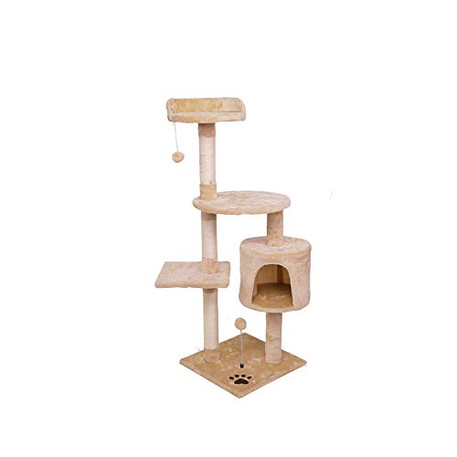 Hao-zhuokun Torre de Escalada de Gato Torre de árbol de Gato Hamaca/Escalera/Plataforma de Perchas/Bola Colgando Torre de Gato con arañazos de sisal