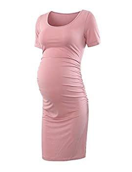 Maternity Dresses for Baby Shower Dusty Pink XL