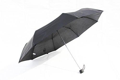 Praktischer Regenschirm, Kleiner Taschenschirm mit Windproof in schwarz (SU1303)