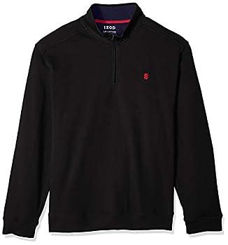 IZOD Men s Big & Tall Big Advantage Performance Quarter Zip Fleece Pullover BLACK 3X-Large Tall