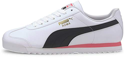 PUMA mens Roma Basic Sneaker, Puma White/Bubblegum, 11 US