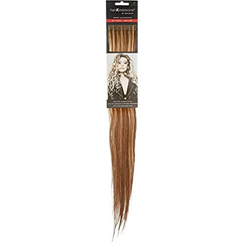 Balmain HairXpression Lot de 25 cheveux humains 50 cm de long 20 brun clair Blond clair 190 g