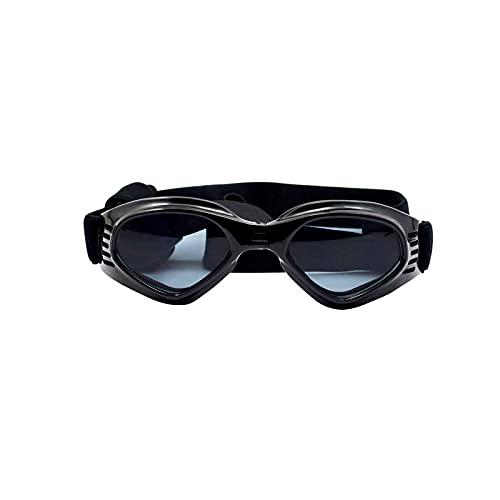 Dog Sunglasses Dog Goggles, Puppy Dog UV Glasses with Adjustable Strap, Anti-Fog & Windproof...