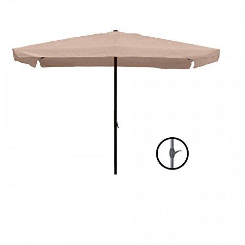 PRATIKO LIFE Ombrellone Da Giardino con Carrucola 2x3 MT-Caffe' Sombrilla de jardín con polea, 2 x 3 m, Color café