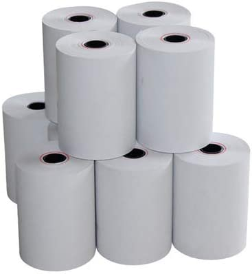 Swaggers Thermal Paper/Billing Machine/POS Machine Rolls 2 inch- 57mm(Width)x 25 meter(Length) with thick paper fine ...