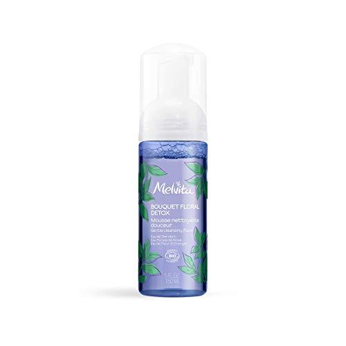 Melvita - Mousse Nettoyante Bouquet Floral Detox - Nettoyant, Protecteur et Apaisant - Pour une Peau Nette, Saine et Douce - Soin Naturel à 99%, Certifié Bio et Vegan - Flacon Pompe 150 ml