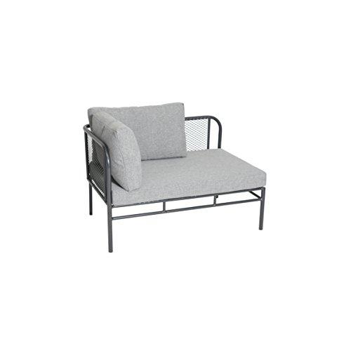 greemotion Loungeset Toulouse eisengrau/grau, Eckbank mit Tisch für In- und Outdoor, Bank mit Rückenverstellung, pflegeleichtes Streckmetallgestell, Sitzelemente einfach umzustellen, ca. 5 Sitzplätze - 3