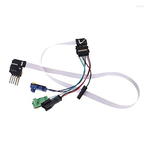 CML Cable de Alambre de reemplazo Ajuste para Renault Megane II Megane 2 Coupé Megane 2 Break Acerour L & K Dropship (Color : White)