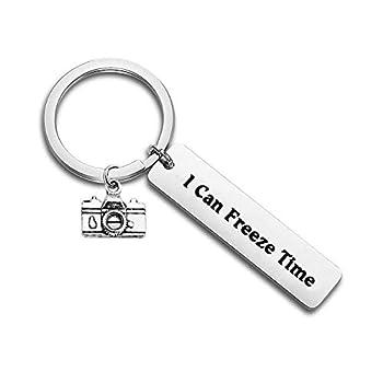 FUTOP Photographer Gift I Can Freeze Time Keychain Wedding Photographer Thank You Gift Camera Jewelry  Photo Keychain