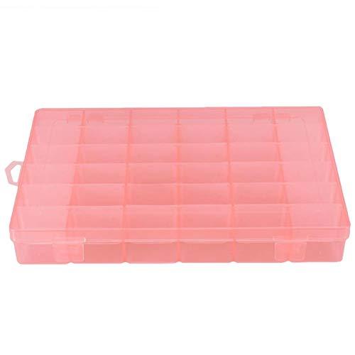 Gaeirt Caja de Almacenamiento de Joyas de 36 Rejillas, para componentes pequeños, Herramienta de decoración de uñas(Orange)