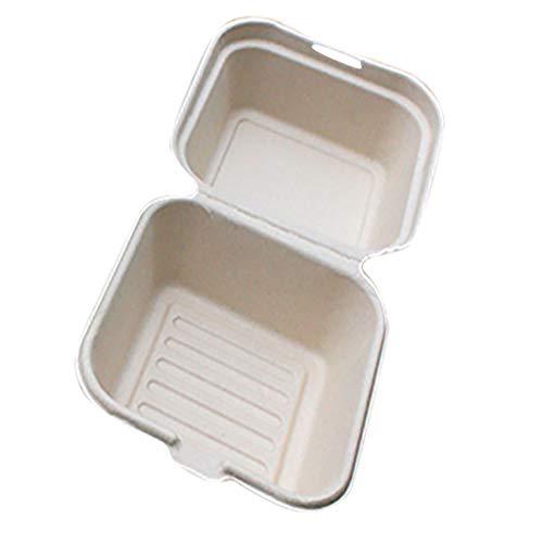 HINK Boîtes à collations Bento jetables Gâteau de Cuisson Protection de l'environnement Boîtes à collations 10 pièces Maison et Jardin Cuisine , Salle à Manger et Bar