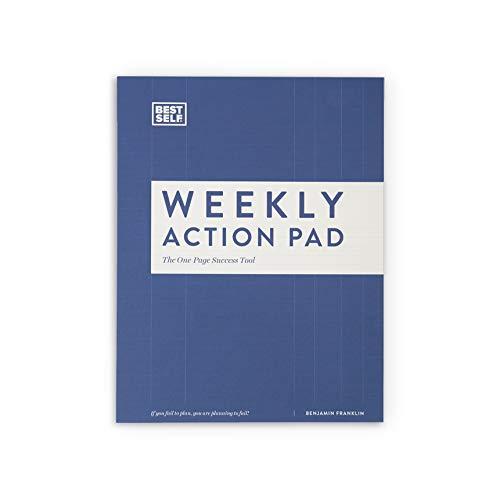 Planificador diario – BestSelf Co. semanal – 52 plantillas – potente ayuda visual – te da poderes para priorizar tu tiempo – ayuda a aumentar tu productividad