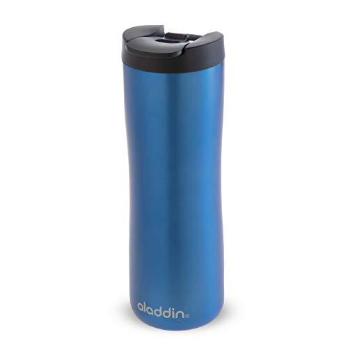 Aladdin Leak-Lock Thermavac Stainless Steel Mug 0.47 L Bleu – Étanche - Tasse à Double Paroi Isolante - Garde Chaud 3,5 Heures - Mug de Voyage en inox Sans BPA - Va au Lave-Vaisselle