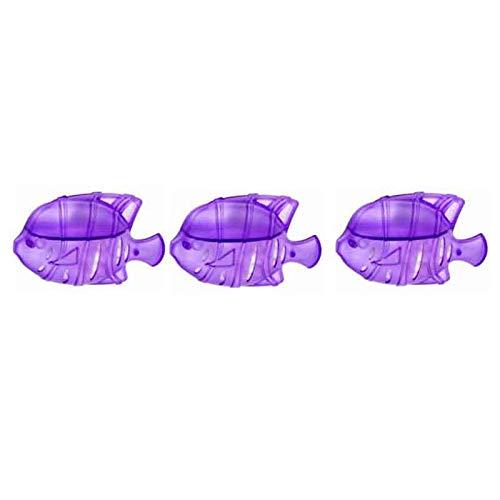 ARONTIME Humidificador de piezas 3D modelo pecera limpieza filtro humidificador multifuncional antibacteriano paisaje decoración 3pcs (morado)
