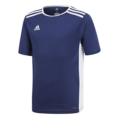 adidas mens Youth Entrada 18 Jersey Dark Blue/White Youth Medium
