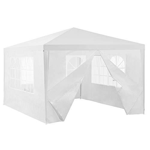 [casa.pro] Paviljoen partytent met 4 zijwanden 4x3x2.55 m wit