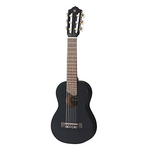 Yamaha GL1 Guitalele, Mini guitarra de madera con las dimensiones de un ukulele, escala de 17 pulgadas, 6 cuerdas de nylon, color Negro