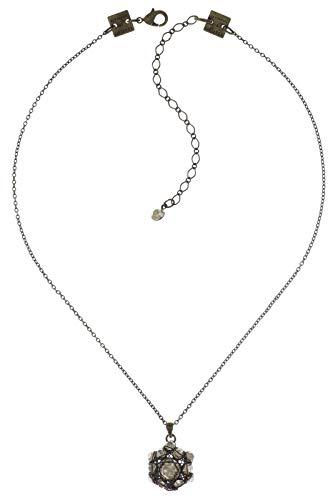 Konplott Halskette mit Anhänger Bended Lights |Anhänger mit Glitzer-Steinen| Kette für Damen in Verschiedenen Farben Einzigartiger Modeschmuck mit Swarovski Elements