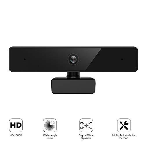 HD-camera, ETE ETMATE computercamera, Full HD 1080P videobellen en opnemen met ruisonderdrukkende microfoon, webcamera voor computerbureaublad of laptop