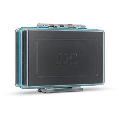JJC Caja de almacenamiento de batería Caja de baterías Organizador de caja de transporte para 8 pilas AA o 14500 batería recargable, soporte de la caja de la batería