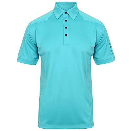 Island Green Polo de Manga Corta Transpirable para Hombre, Hombre, Camisa de Golf, IGTS1648_TURQ_3XL, Turquesa, 3XL