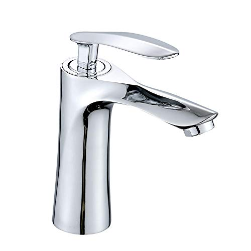 Lavabo y mueble de baño Grifo de agua fría y caliente Chapado en aleación de hoja de arce Grifo de lavabo de baño