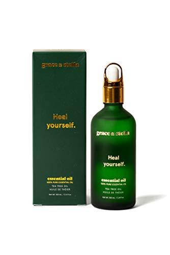 Aceite esencial de arbol de te 100% puro y natural vegano para aromaterapia, piojos, repelente en spray, remojo para pies, toallita antiseptica, mezcla de masaje para el aroma del difusor