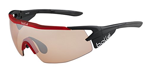 Bollé Aeromax Gafas de sol, negro/rojo, M
