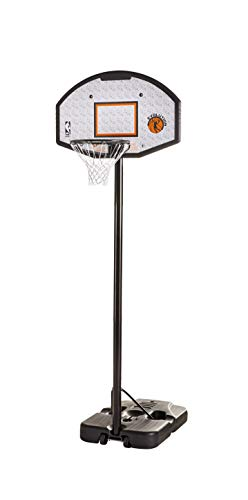 "Spalding 44"" Eco-Composite Telescoping Portable Basketball Hoop"