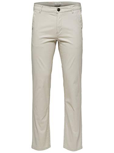 SELECTED HOMME Herren Hose SLHSTRAIGHT-Paris L. Pants W NOOS, Grau (Silver Lining), W31/L32 (Herstellergröße: 31)
