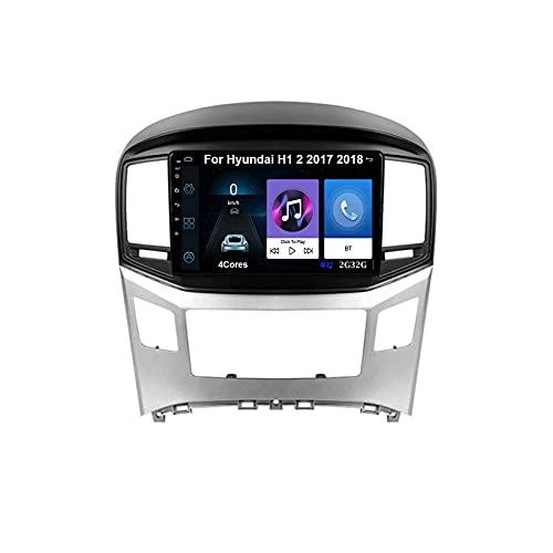 Android 10 Autoradio 9 Pulgadas Coche Radio De Coche Pantalla Tactil Para Hyundai H1 2 2017 2018 Radio Del Coche Car Player Conecta Y Reproduce Coche Audio USB Cámara Trasera