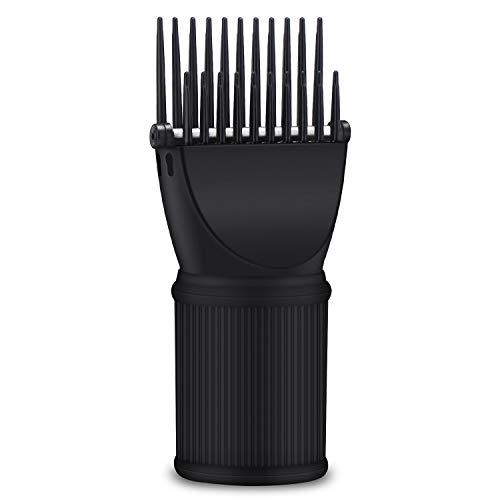 Attachement de peigne de séchoir à cheveux, accessoires pour brasseur de concentrateur de buse de concentrateur de buse de concentrateur de pinceau de cheveux de noir