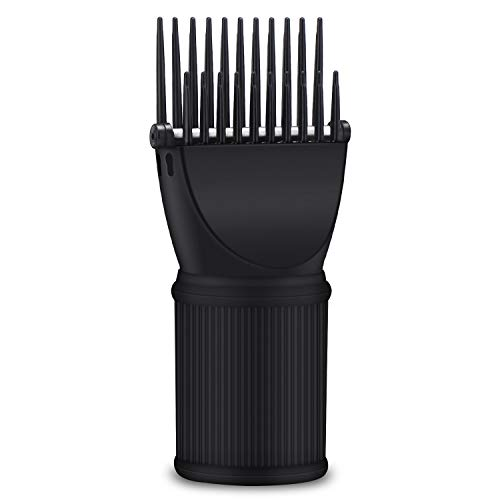 Comb Attachment for Hair Dryer, Segbeauty Blow Dryer Pik Concentrator Nozzle Brush Attachments Hairdressing Styling Salon Tool for Straightening Detangling Fine, Wavy, Curly, Natural Hair