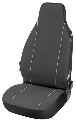 Walser Autositzbezug Modulo Highback Einzelsitzbezug für Vordersitz schwarz universal passender Schonbezug 13557