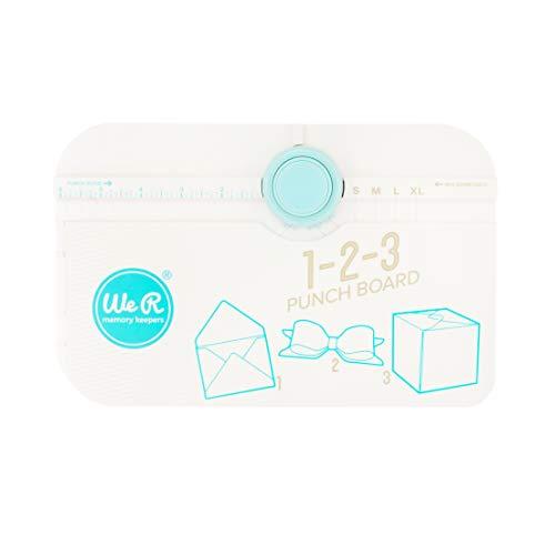 We R Memory Keepers 1-2-3 Punch Board, Blanco, 1 Pack