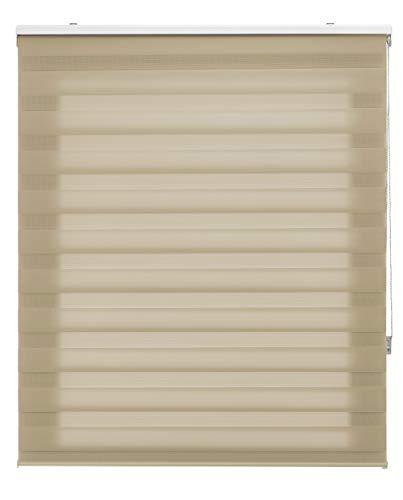 Blindecor Lira Tenda a Rullo in Doppio Strato Notte e Giorno, 100 x 180cm (Larghezza x Lunghezza), Beige