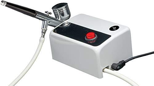 Crafts & Co Airbrush Set met Compressor - Complete Kit Dual-Action Airbrush Gun - Geschikt voor Make-up, Taarten, Bodypaint, Modelbouw en Tekeningen