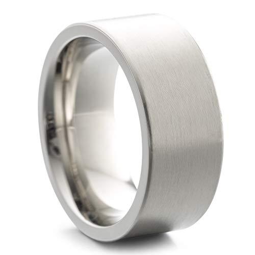 Heideman Ring Damen und Herren Paari aus Edelstahl Silber Farben poliert oder matt Damenring für Frauen und Männer Partnerringe 9mm breit schmaler Ring strichmatt Gr.60 hr7013-4-60