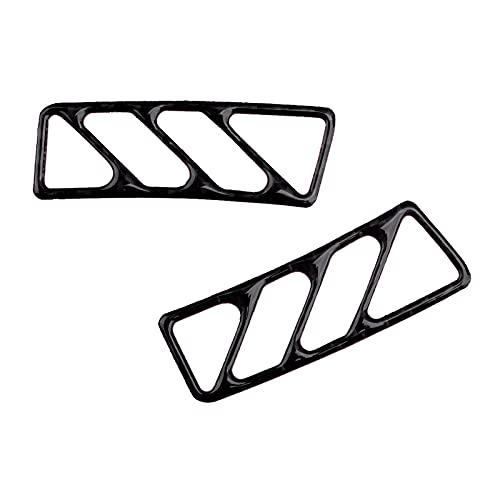 CCHAO 1 par de Fibra de Carbono Black Dashboard Air Vent Outlet Outlet Pegatina Pegatina Ajuste para Chevrolet Camaro 2010 2011 2013 2014 2015 2015