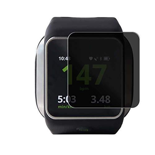 Vaxson Protector de Pantalla de Privacidad, compatible con Adidas MiCoach Smart Run smartwatch Smart Watch [no vidrio templado] TPU Película Protectora Anti Espía