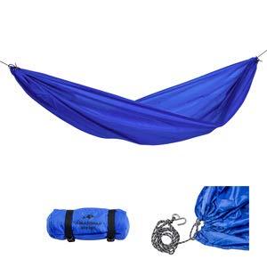 AMAZONAS Ultra-Light Hängemattenset Travel Set Blue große Leichthängematte inkl. Seil und Haken 450g 275x140cm bis 120kg