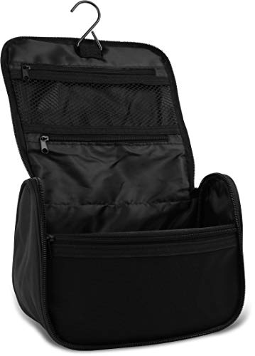 Storfisk fishing & more Hanging Toiletry Bag with Various Inner Compartments, Black