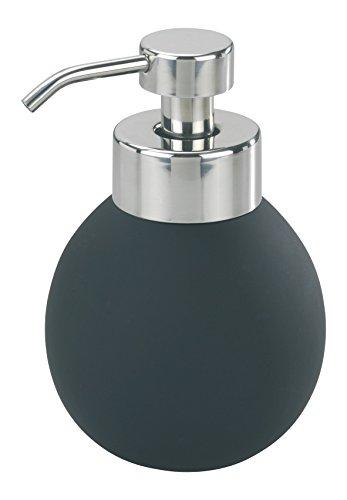 Wenko Schaumseifenspender Naro Anti-Rutsch Fassungsvermögen 0.380 L, Keramik, schwarz, 10 x 10 x 15 cm