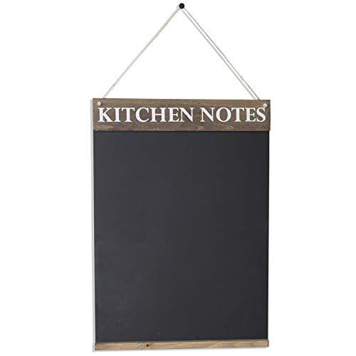Chalkboards UK Pizarra de Notas de Cocina, Madera, Marrón rústico, A2 (42 x 60 x 3cm)
