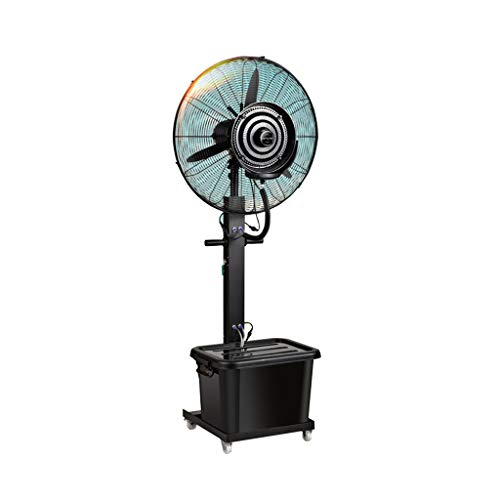 Ventilator mit zerstäuber wasser/Standventilatoren/Sprühnebel ventilator outdoor/Ventilator Vernebler Außen Mikroklima Terrasse Garten Bar Wassertank 42 Liter