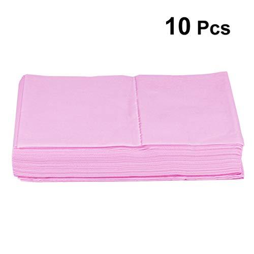 Healifty 10 stücke einweg bettlaken vlies abdeckkissen einweg massagetisch bettlaken für spa tattoo hotels schönheitssalon (rosa)