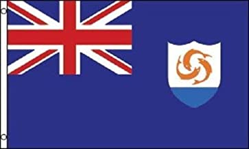 ALBATROS 3 ft x 5 ft Anguilla British Territory Caribbean Island Flag Banner Brass Grommets for Home and Parades, Official Party, All Weather Indoors Outdoors