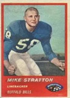 1963 Fleer Regular (Football) card#32 Mike Stratton of the Buffalo Bills Grade Very Good