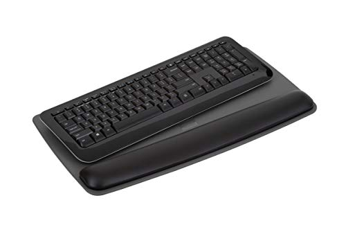 """3M Gel Wrist Rest for Keyboards with Tilt-Adjustable Platform, Soothing Gel with Durable, Easy to Clean Leatherette Cover, Antimicrobial Product Protection, 19.6"""" x 10.6"""", Black (WR420LE) Photo #2"""