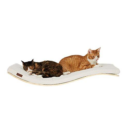 COSY AND DOZY Tumbona de pared para gatos, 90 cm x 41 cm, madera de arce